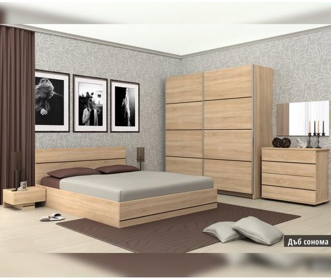Спален комплект Камо дъб сонома