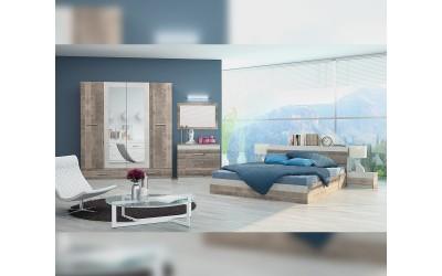 Спален комплект Престиж - Колониален дъб/ Лино канова