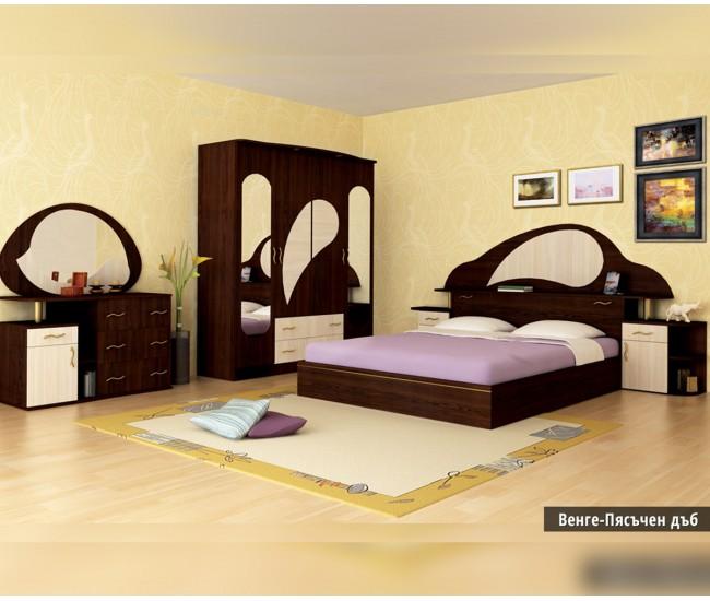 Спален комплект Роси венге/пясъчен дъб