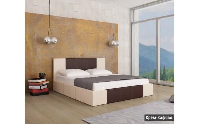 Тапицирано легло Казабланка Крем/Кафяво мат