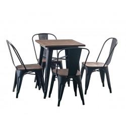 Градински комплект HD - маса и четири стола