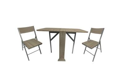 Комплект сгъваеми маса с два стола Закуска
