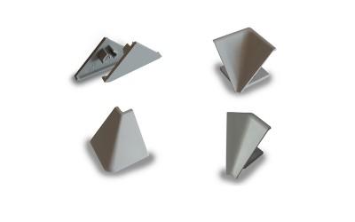 Комплект ъгли и капачки за права алуминиева водобранна лайсна Сити