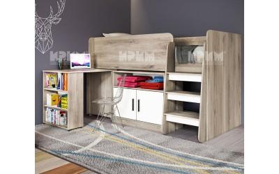Горно легло Сити 5023 - с бюро и шкаф под него
