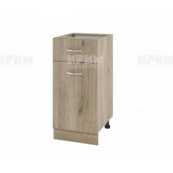 Долен кухненски шкаф Сити АРДА-24 с врата и чекмедже - 40 см. - сонома арвен