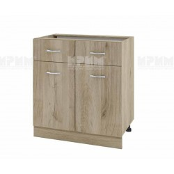 Долен кухненски шкаф Сити АРДА-26 с две врати и чекмеджета - 80 см. - сонома арвен