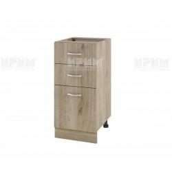 Долен кухненски шкаф Сити АРДА-27 с две чекмеджета и врата - 40 см. - сонома арвен
