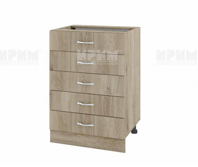 Долен кухненски шкаф Сити АРДА-29 с пет чекмеджета - 60 см. - сонома арвен