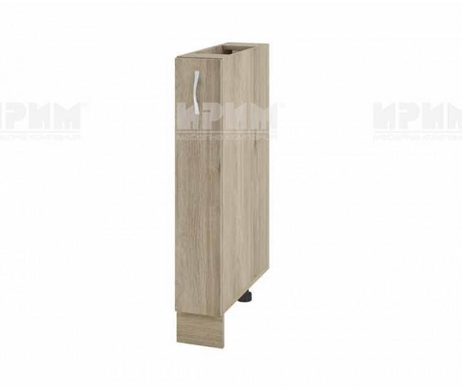 Долен кухненски шкаф бутилиера Сити АРДА-41 - 15 см. - сонома арвен