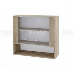 Горен кухненски шкаф Сити АРДА-10 с витринни врати - 80 см. - сонома арвен