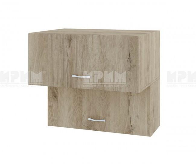 Горен кухненски шкаф Сити АРДА-107 с хоризонтални врати - 80 см. - сонома арвен