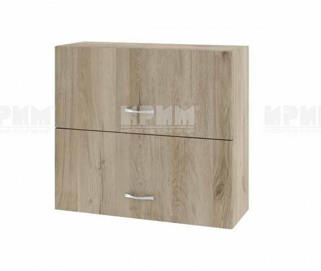 Горен кухненски шкаф Сити АРДА-12 с хоризонтални врати - 80 см. - сонома арвен