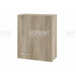 Горен кухненски шкаф Сити АРДА-17 с врата за ъгъл - 60 см. - сонома арвен