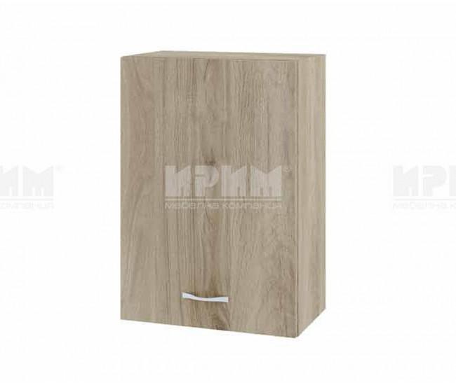 Горен кухненски шкаф Сити АРДА-18 с врата и рафт - 50 см. - сонома арвен