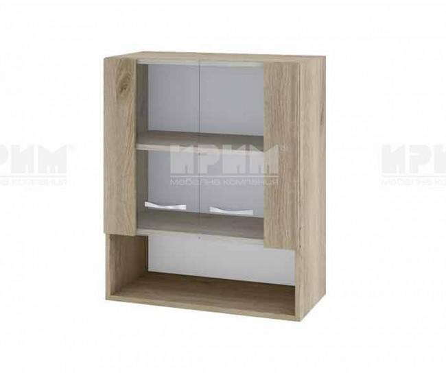 Горен кухненски шкаф Сити АРДА-9 с витринни врати - 60 см. - сонома арвен