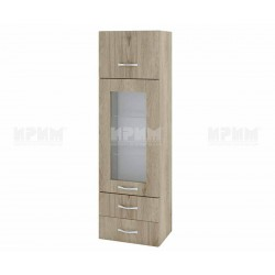 Сити АРДА-101 - кухненски шкаф с витрина, чекмеджета и повдигаща врата - 40 см. - сонома арвен