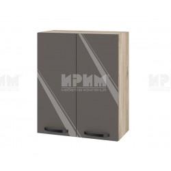 Кухненски горен шкаф с две врати Сити АРФ-Антрацит гланц-05-3 МДФ - 60 см.