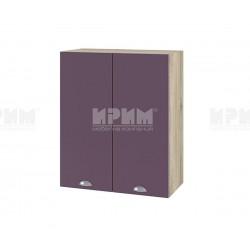 Кухненски горен шкаф Сити АРФ-Лилаво мат-05-3 МДФ - 60 см.