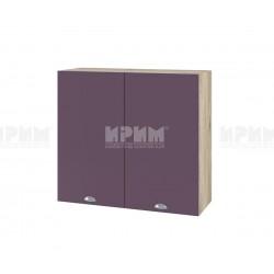 Кухненски горен шкаф Сити АРФ-Лилаво мат-05-4 МДФ - 80 см.