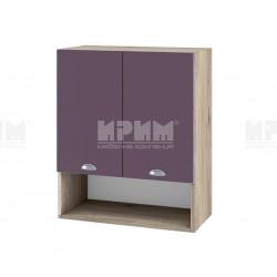 Кухненски горен шкаф с ниша Сити АРФ-Лилаво мат-05-7 МДФ - 60 см.