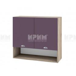 Кухненски горен шкаф с ниша Сити АРФ-Лилаво мат-05-8 МДФ - 80 см.