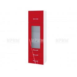 Сити БЧ 101 - горен кухненски шкаф с витрина, чекмеджета и повдигаща врата - 40 см.