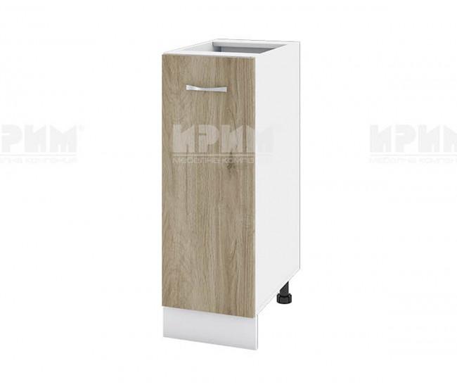 Долен кухненски шкаф Сити БДА-20 с врата и рафт - 30 см. - сонома арвен/бяло гладко