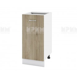 Долен кухненски шкаф Сити БДА-21 с врата и рафт - 40 см. - сонома арвен/бяло гладко