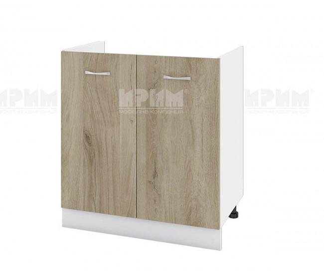 Долен кухненски шкаф за бордова мивка Сити БДА-30 - 80 см. - сонома арвен/бяло гладко