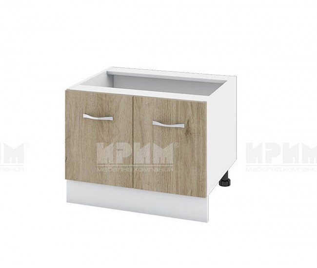 Долен кухненски шкаф за Раховец Сити БДА-32 - 60 см. - сонома арвен/бяло гладко