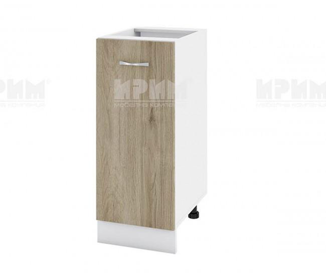 Долен кухненски шкаф Сити БДА-40 с врата и рафт - 35 см. - сонома арвен/бяло гладко