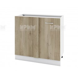 Долен кухненски шкаф за ъгъл с врата Сити БДА-42 - 90 см. - сонома арвен/бяло гладко