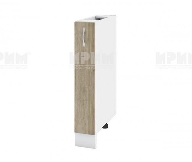 Долен кухненски шкаф бутилиера Сити БДА-41 - 15 см. - сонома арвен/бяло гладко