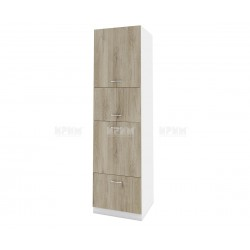 Колонен кухненски шкаф Сити БДА-48 за фурна и микровълнова печка - 60 см. - сонома арвен/бяло гладко