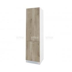 Колонен кухненски шкаф Сити БДА-50 за хладилник - 60 см. - сонома арвен/бяло гладко