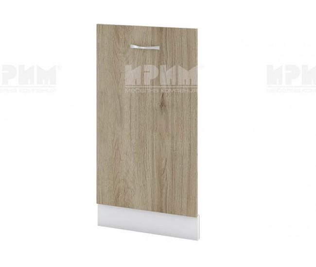 Врата за съдомиялна Сити БДА-38 - 45 см. - сонома арвен/бяло гладко