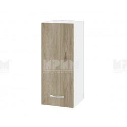 Горен кухненски шкаф Сити БДА-1 с врата и рафт - 30 см. - сонома арвен/бяло гладко