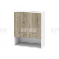 Горен кухненски шкаф Сити БДА-7 с две врати - 60 см. - сонома арвен/бяло гладко