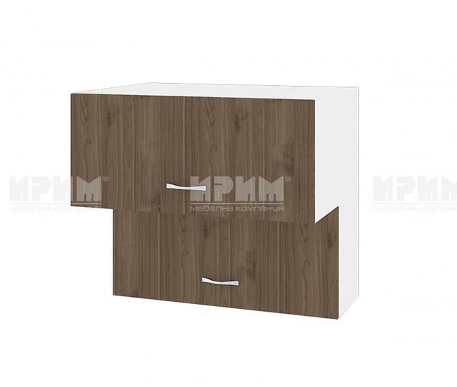 Горен кухненски шкаф Сити БО-107 с хоризонтални врати - 80 см.