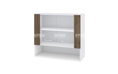 Горен кухненски шкаф Сити БО-10 с витринни врати - 80 см.