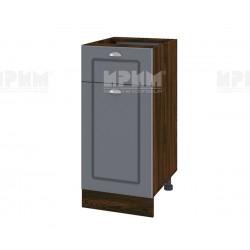 Кухненски долен шкаф Сити ВФ-Цимент мат-06-24 МДФ - десен - 40 см.