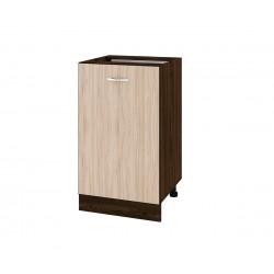 Долен кухненски шкаф Сити ВА-43 с врата и рафт - 50 см.