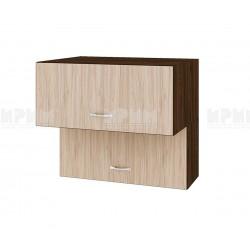 Горен кухненски шкаф Сити ВА-107 с хоризонтални врати - 80 см.