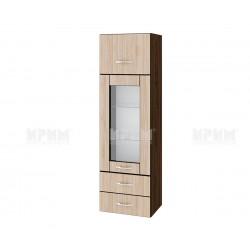 Сити ВА - 101 - кухненски шкаф с витрина, чекмеджета и повдигаща врата - 40 см.