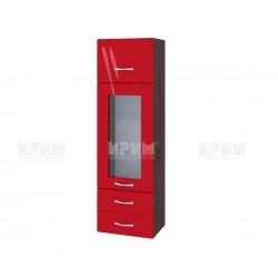 Сити ВЧ - 101 - шкаф с витрина, чекмеджета и повдигаща врата - 40 см.