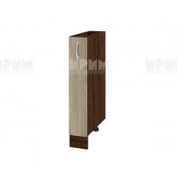 Долен кухненски шкаф бутилиера Сити ВДА-41 - 15 см. - сонома арвен/венге