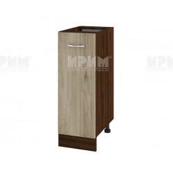 Долен кухненски шкаф Сити ВДА-20 с врата и рафт - 30 см. - сонома арвен/венге