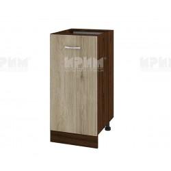 Долен кухненски шкаф Сити ВДА-21 с врата и рафт - 40 см. - сонома арвен/венге