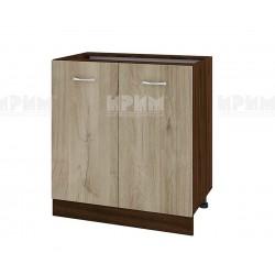 Долен кухненски шкаф Сити ВДА-23 с две врати - 80 см. - сонома арвен/венге
