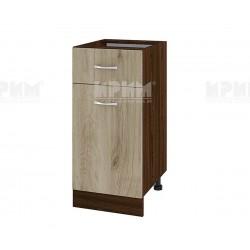 Долен кухненски шкаф Сити ВДА-24 с врата и чекмедже - 40 см. - сонома арвен/венге